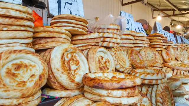 Delicious Kyrgyzstan bread, the so called Central Asian Flat bread