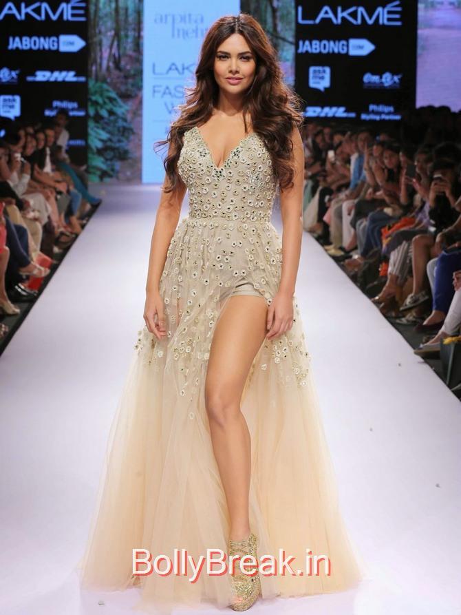 , Esha Gupta in Arpita Mehta Dress - Lakme Fashion Week 2015