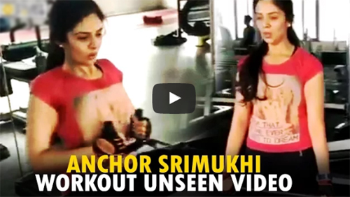 Anchor Srimukhi GYM Workout Unseen Private Video