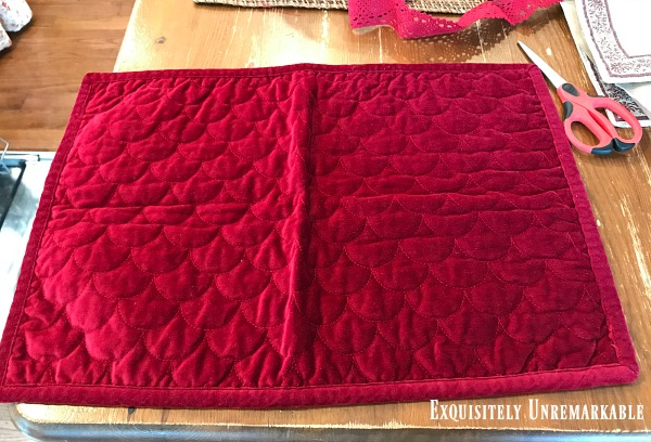 Pottery Barn Quilted Placemat