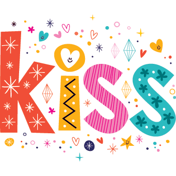 Kiss - Colorful Text