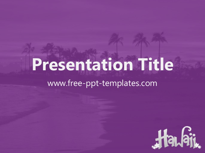 hawaii ppt template, Modern powerpoint