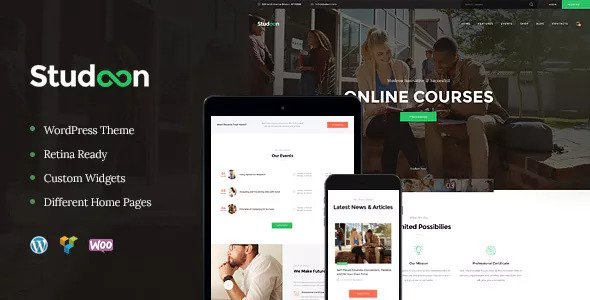 Studeon wordPress Theme for educational activity pump too preparation courses pump Studeon v1.1.2 – Education Center & Training Courses Theme