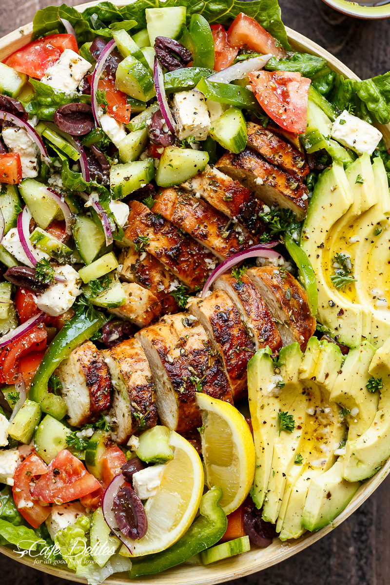 Greek Chicken Salad Recipe - Quick No-Cook Meals