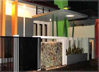 desain pagar tembok minimalis batu alam templek