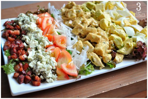 salada cobb como fazer