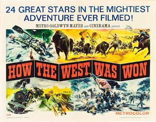 Cartel alternativo de La conquista del Oeste. Banda Sonora