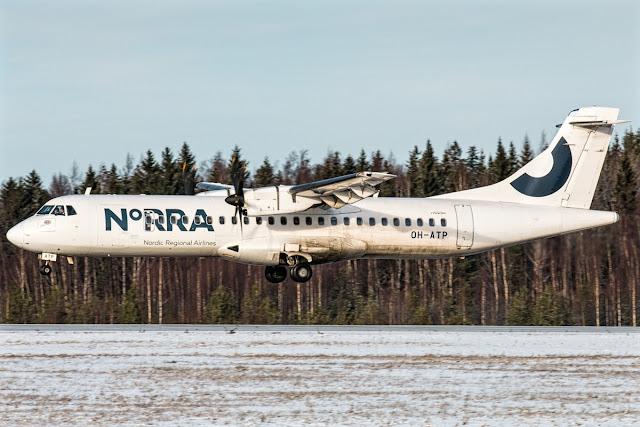 ATR 72-500 Norra Nordic Regional Airlines Landing