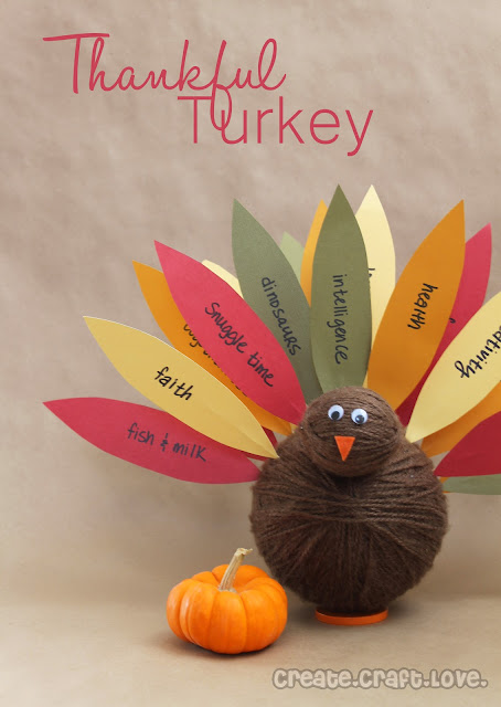 Create your own Thankful Turkey for Thanksgiving! #thanksgiving #thanksgivingcrafts