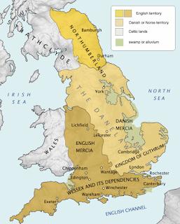 Mapa del reino de Guthrum