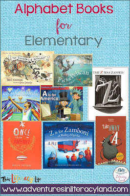 Alphabet books for elementary students are more complex with various stories and learning experiences.