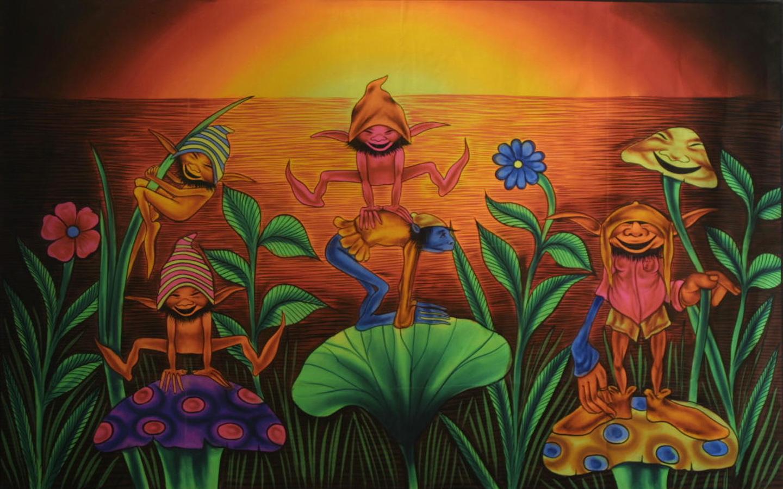 3d Rainbow Psychedeli Wallpaper Vpinfobr Wallpaper Gnomos Psy