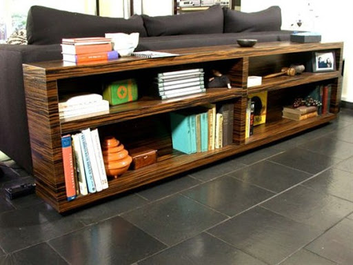 wood low bookcase