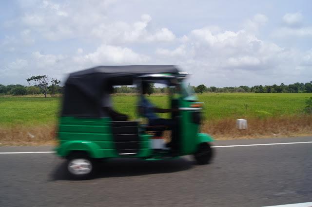Tuctuc: Meist schneller als erlaubt, prägen sie das Strassenbild von Sri Lanka.