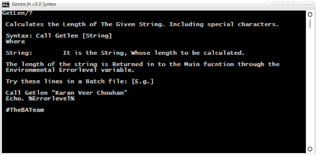 Know 'Length of String' including Special Characters | Getlen Function v3.0 | By Sounak@9434