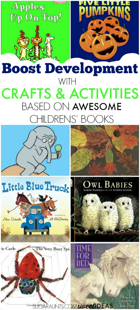 These awesome children's books are part of the Virtual Book Club for Kids and have creative crafts and activities that boost developmental skills in kids.