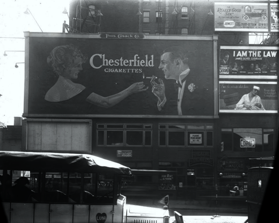 Chesterfield advertising 1922