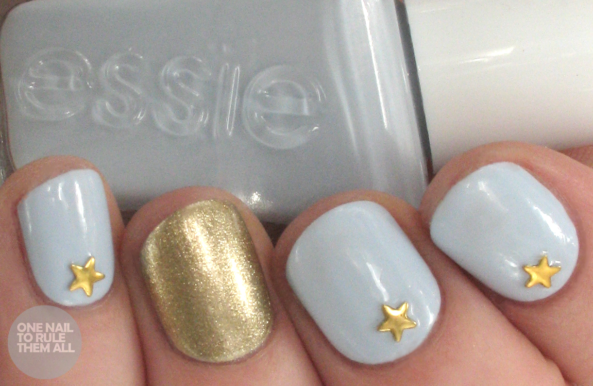 one nail to rule them all  essie periwinkle stars