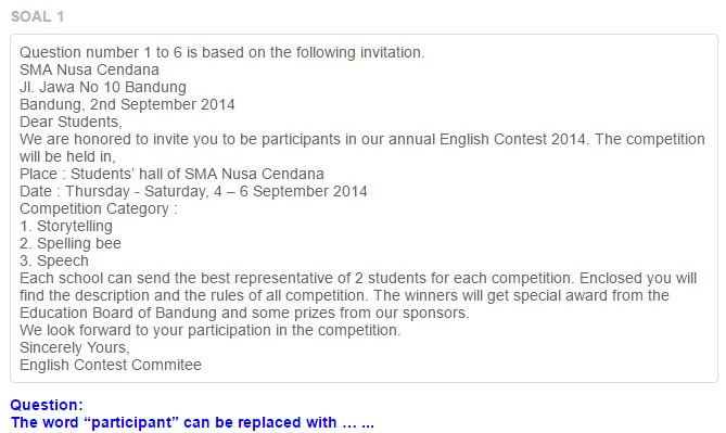 Soal understanding a formal invitation contoh soal understanding a formal invitation stopboris Image collections