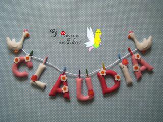 nombre-fieltro-Claudia-hechoamanoparati-elbosquedelulu-regalo-nacimiento-original-personalizado
