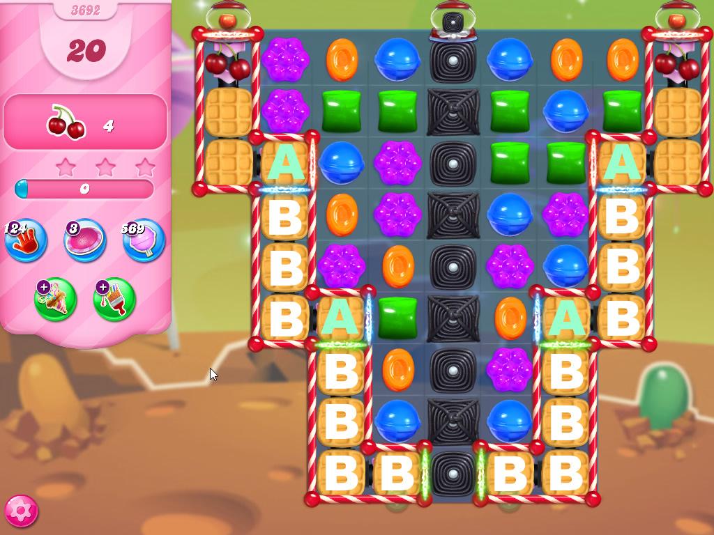 Candy Crush Saga level 3692