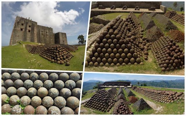 bolas de cañon de la Citadelle laferrière de Haití