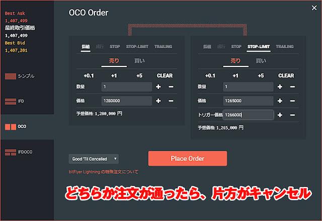 OCO(オーシーオー)注文方法