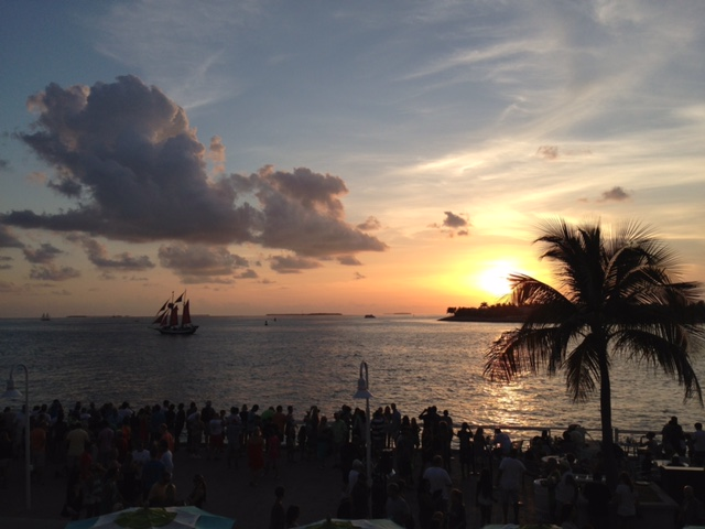 Por do sol romântico em Key West em Miami