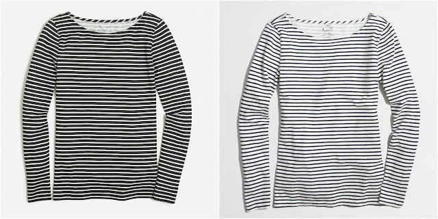 J. Crew Factory Striped Artist T-Shirt $17 (reg $35)