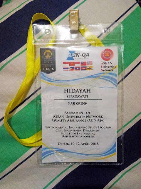nametag, asean university network, universitas indonesia, environmental engineering