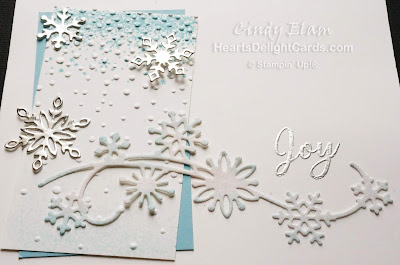 Heart's Delight Cards, Snowfall Thinlits, Snow Is Glistening, Stampin' Up!