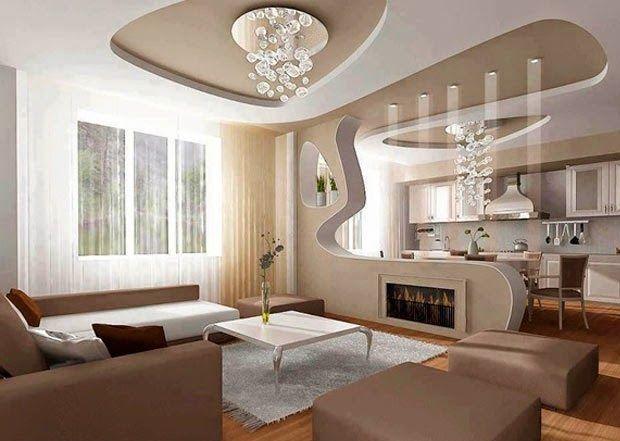 Dise os de salas con falsos techos salas con estilo - Falso techo decorativo ...