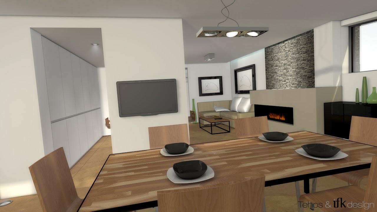 IFK design   Graphic Designer: Modélisation 3D d'un Salon/Salle à Manger/Cuisine pour un ...