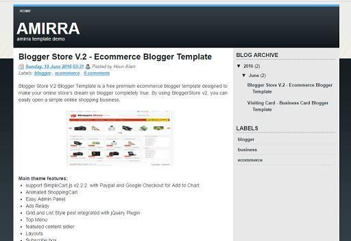 Amirra Blogger Template - amirra