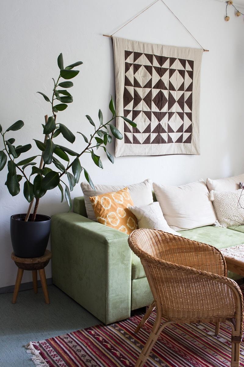 Home Tour - Mein Wohnzimmer im Boho-Look - Green Bird - DIY Mode ...