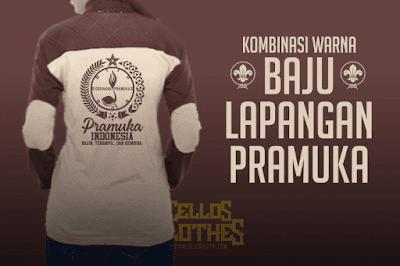 Desain dan Warna Kombinasi Baju Lapangan Pramuka Indonesia