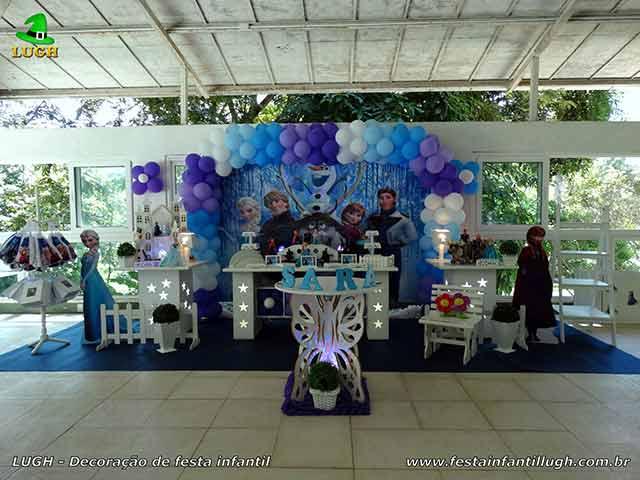 Festa infantil Frozen - Decoração Provençal Luxo