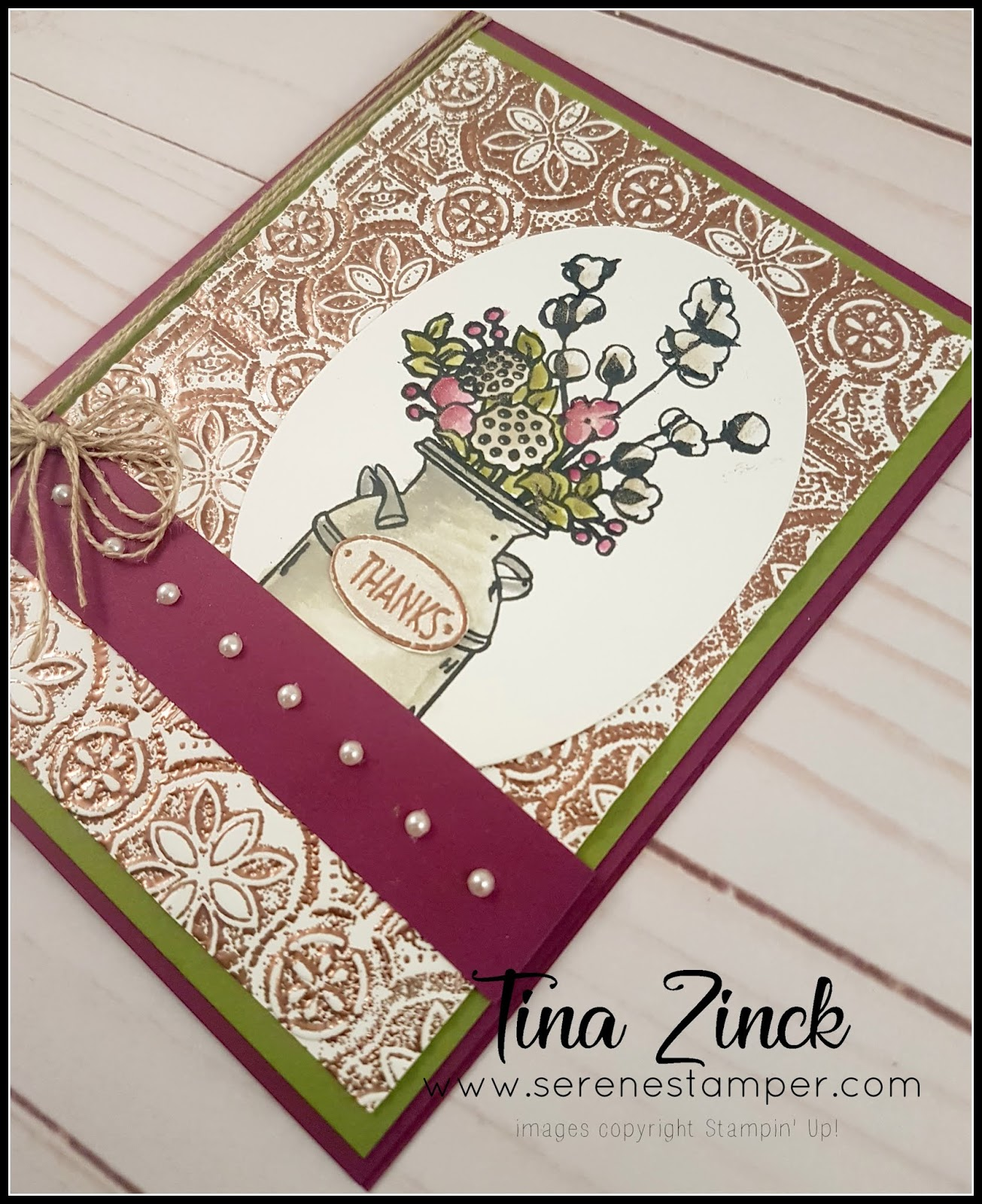 The Serene Stamper: Country Home Thanks Card Tutorial