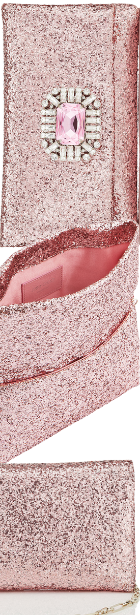 JIMMY CHOO TITANIA CLUTCH IN PINK