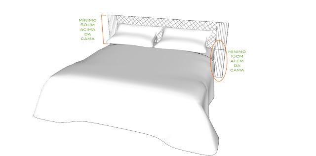 tamanho cabeceira cama casal