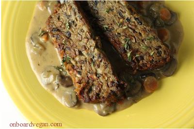 Vegetarian or Vegan Mushroom Meatloaf
