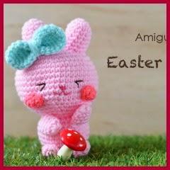 Conejita de Pascua amigurumi
