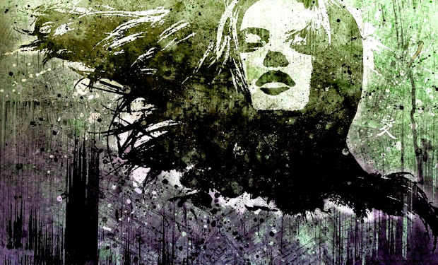 Abstract Art Faces Black And White Wallpapers