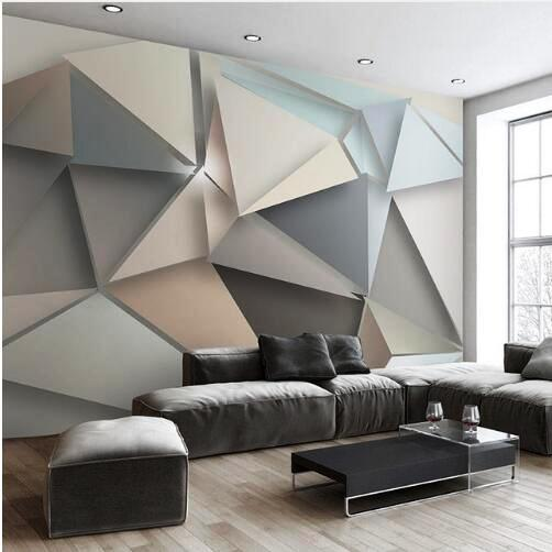 05. Wallpaper 3D bertema Bidang Geometris