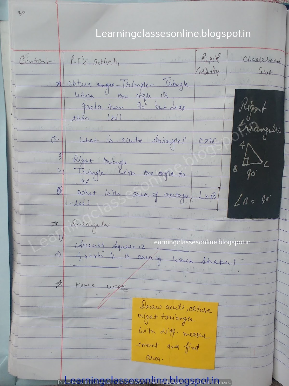 Lesson Plan For Maths Class 8,