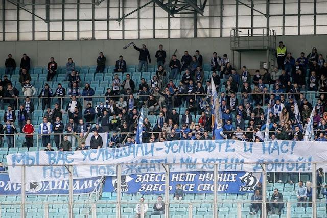 Наставления Хохлова и «Мы хотим домой!» Лучшие фото с матча «Динамо» — «Крылья»