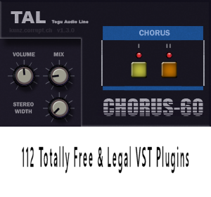 112 Totally Free & Legal VST Plugins: TAL- Togu Audio Line