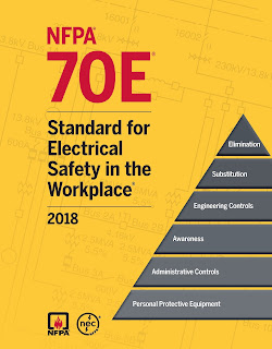 NFPA 70E: Standard for Electrical Safety in the Workplace 2018;transformation;distribution ;electric energy;communications;metering;generation;control, transformation;transmission;distribution ;communications equipment;communications utilities located outdoors;electric utility;railways for generation;transformation;transmission;distribution of power;electrical safety-related work practices;afety-related maintenance requirements;administrative controls for employee workplaces ;electric conductors;electric ;equipmentelectric equipment;electrical hazards