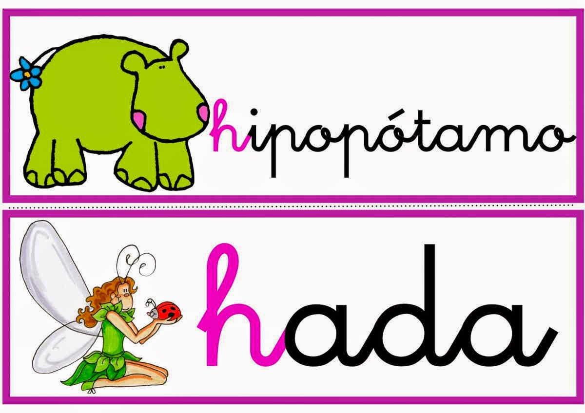 Palabras con H intermedia y con H inicial con imágenes ...