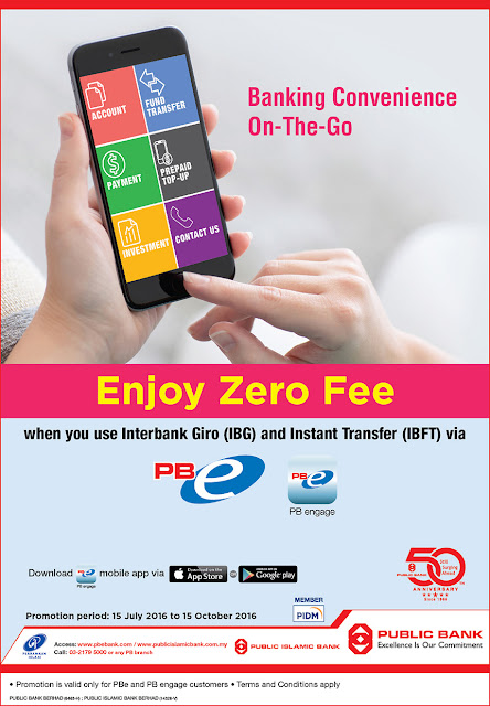 Public Bank Zero Fees Interbank Giro (IBG) and Instant Transfer (IBFT) Promo